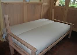 Sofa Bed Sprung Mattress by Hardwood Sofa Double Bed With Deluxe Futon Or Sprung Futon Package