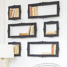 Modern Wall Storage Appealing Wall Bookshelves Design Inspiration Feature Black