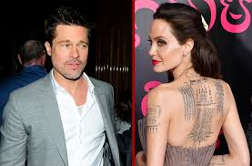 angelina jolie line tattoo brad pitt is removing all symbols of
