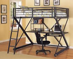 Loft Bed Full Size With Desk Metal Loft Bed With Desk Laluz Nyc Home Design