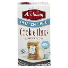 archway gluten free sugar cookie thins 6 pz meijer com