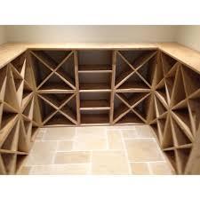 pine wooden wine rack cellar cubes 144 bottles 223mm deep