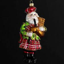 kurt s adler noble gems scottish bagpipe santa glass