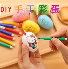 decorative easter eggs for sale 1set sale 4pcs marker pens with 1pc soft plastic egg for kids