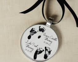 infant loss christmas ornaments custom baby s christmas ornament footprint