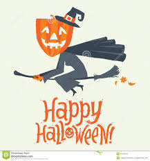 halloween party invitation background a witch flying on a broomstick happy halloween postcard poster