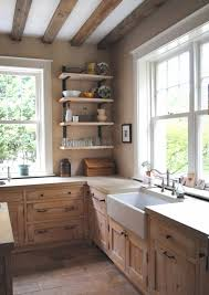 french country kitchen farm sink white washed cypress cabinets