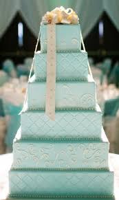 tiffany blue square wedding cake bow tie wedding cake ideas