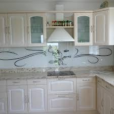 plaque en verre pour cuisine intérieur de la maison credence decorative cuisine sur mesure