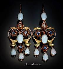 opal necklace vintage images Antique opal jewelry art nouveau opal russian gold earrings jpg