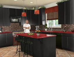 Asian Kitchen Cabinets Kitchen Style Asian Modern Kitchen Bamboo Flooring Red Hanging