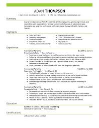 Picture Of Resume Examples by Unforgettable Commercial Parts Pro Resume Examples To Stand Out