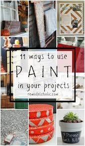 remodelaholic 9 cool wood projects november link party 11 ways to use paint in diy projects remodelaholic bloglovin