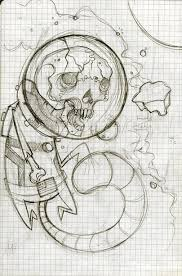 zombie space monkey sketch by onibaka on deviantart