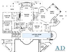 luxury house plans with pools balmoral castle plans luxury home plans basement floor plans