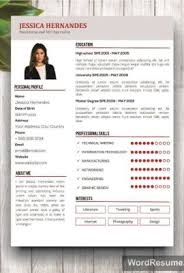 Clean Resume Template Word Creative Resume Templates Professional Cv Templates