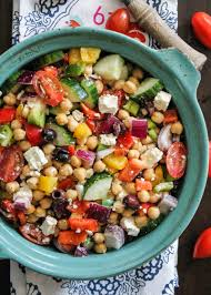the easiest chopped chickpea greek salad ambitious kitchen