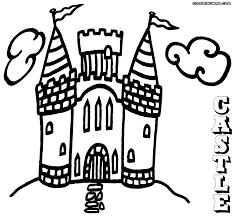 castle coloring pages coloring pages to download and print