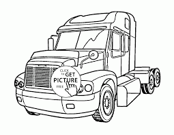 nice semi truck coloring page for kids transportation coloring