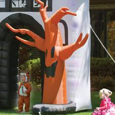 Inflatable Halloween Haunted House The Inflatable Howling Haunted House Hammacher Schlemmer