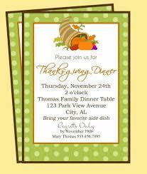 invitation for thanksgiving dinner cimvitation