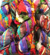 sari silk ribbon 1000gms himalaya recycled sari silk ribbon yarn knit crochet