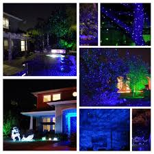 Christmas Lights Projector On House by Outdoor Waterproof Lawn Lights Show Firefly Star Landscape Laser