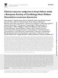clinical outcome endpoints in hf trials