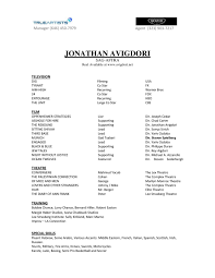 How To Make A Professional Looking Resume How To Write A Resume For Acting Auditions Sample Acting Resume