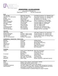 Artist Resume Template Word Actress Resume Free Resume Example And Writing Download
