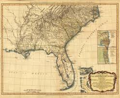 North Florida Map by Florida Memory Map Of Southern British Colonies Including