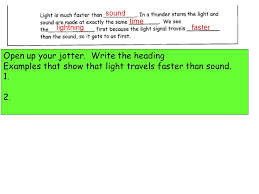 What Travels Faster Light Or Sound Measuring The Speed Of Sound Ppt Video Online Download
