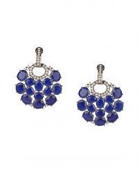 karigari earrings silver earrings with blue onyx stones karigari designers