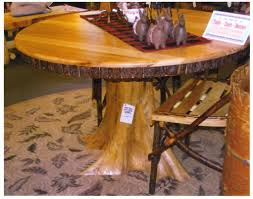 tree trunk dining table rustic round dining table amish rustic dining table 48 round tree