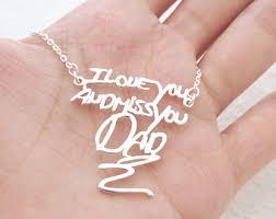 custom handwriting necklace handwritten necklace etsy