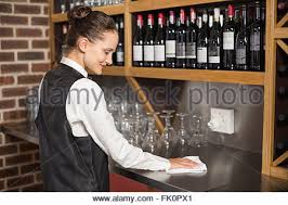 Cleaning Table Stock Images Royalty by Barmaid Cleaning Table Stock Photo Royalty Free Image 146786511