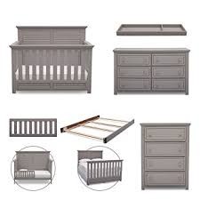Simmons Convertible Crib Simmons Oakmont 6 Nursery Furniture Set