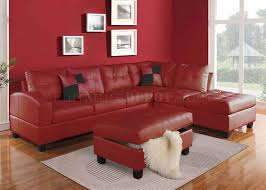Red Sectional Sofas by 51185 Kiva Sectional Sofa In Red Bonded Leather By Acme