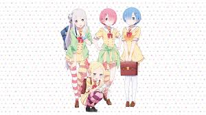 subaru and emilia wallpaper emilia re zero wallpaper zerochan anime image board