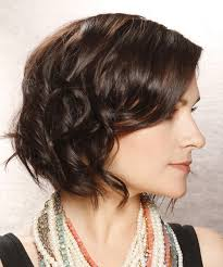 short brunette hairstyles front and back short wavy casual bob hairstyle dark brunette chocolate