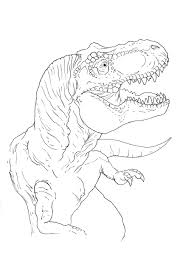 tyrannosaurus coloring page by stuntmanmike666 on deviantart