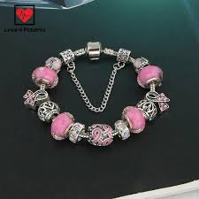 european bead charm bracelet images Pink ribbon breast cancer awareness european bead charm bracelet jpg