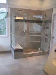 bathroom design ideas natural stone wall functional shower stall