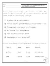 freebie common core ela l 2 2 a capitalization quiz or worksheet