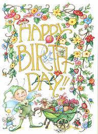 engelbreit happy birthday bugs blank greeting card w