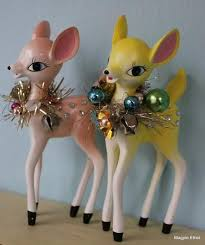 Christmas Deer Table Decorations by Best 25 Retro Christmas Decorations Ideas On Pinterest Retro