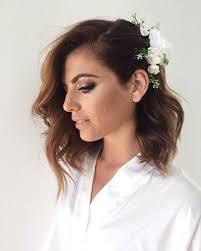 wedding flowers in hair 31 wedding hairstyles for to mid length hair stayglam