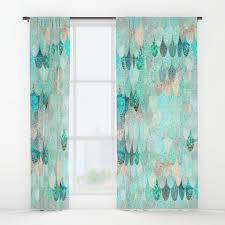 mermaid and mermaids window curtains society6