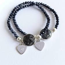 crystal heart charm bracelet images Personalised labradorite crystal heart charm bracelet by evy jpg