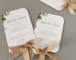 Fan Wedding Program Template Fan Wedding Program Etsy